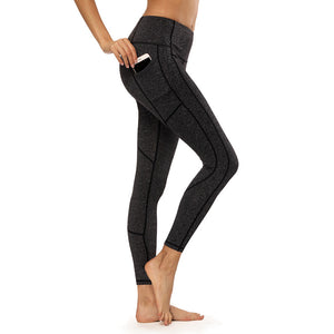 Webbed Elastic High Waist Yoga Pants