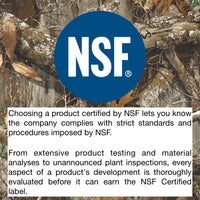NSF Certified for safety