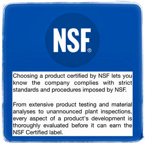Dr Hughes is manufactured at an NSF Certified facility