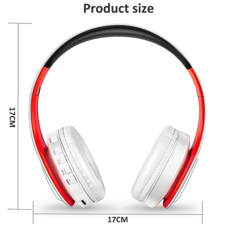 Image of HIFI Bluetooth headphones - FM and support SD card with mic