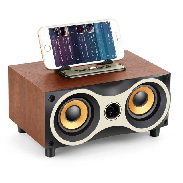 TR-Wooden Portable Wireless Speaker