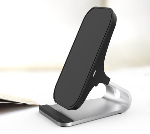 Image of Wireless Charger Quick Charging Qi Certified Desk Stand Wireless Charger with One Meter Type C to USB Cable Without AC Adapter