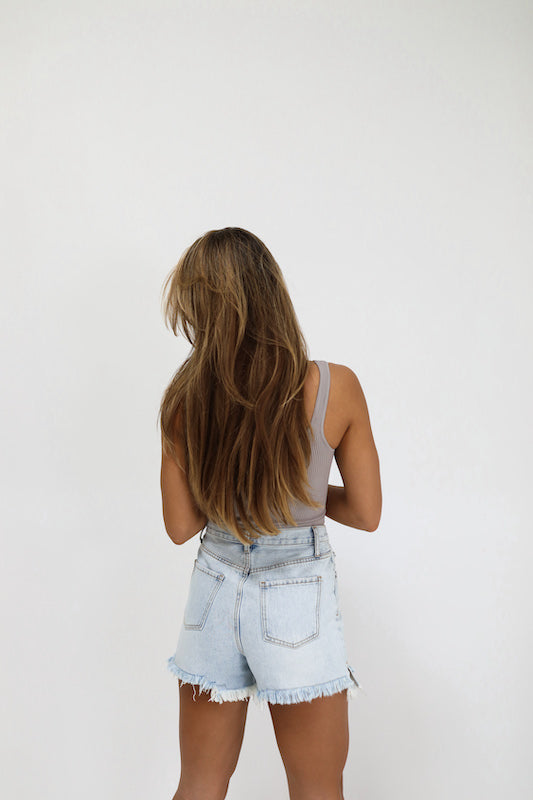 one + only vintage jean shorts