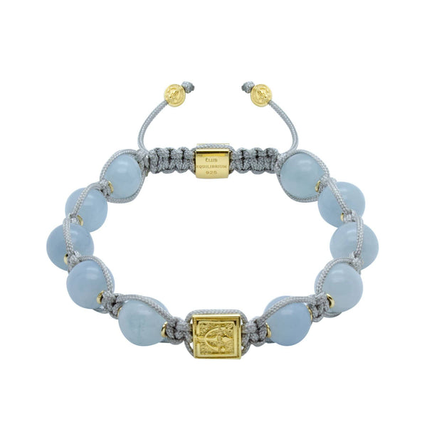 Timeless Aquamarine Bead Bracelet In Silver or Gold | 10MM - CLUB EQUILIBRIUM