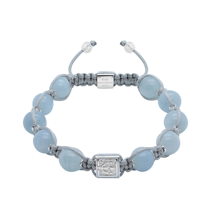 Timeless Aquamarine Bead Bracelet In Silver or Gold | 10MM | Club Equilibrium