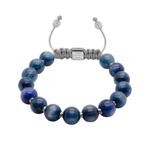 NEW/on-site/ Women - 1/#4/Blue Magic | Kyanite Adjustable Stone Bracelet in Gold or Silver | 10MM | Club Equilibrium