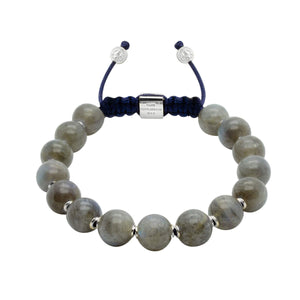 Intuition | Labradorite Adjustable Stone Bracelet in Gold/Silver | 10MM | Club Equilibrium