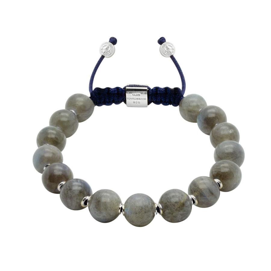 NEW/on-site/ Women - 1/#3/Intuition | Labradorite Adjustable Stone Bracelet in Gold/Silver | 10MM | Club Equilibrium