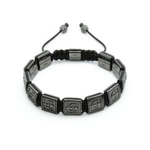 Black Knight -  VIP Beaded Bracelet In Black Rhodium Over Silver  | 10MM - CLUB EQUILIBRIUM