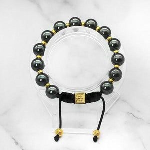The Courage | Signature Hematite Bracelet in Gold/Silver  | 10MM | Club Equilibrium