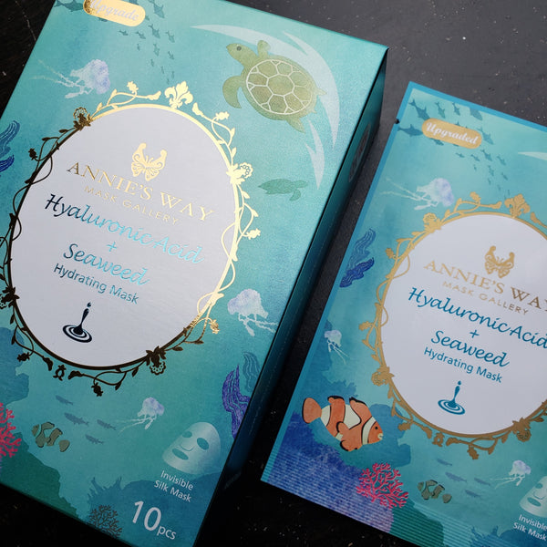 Annie's Way Hyaluronic Acid and Seaweed Hydrating Sheet Mask Silk