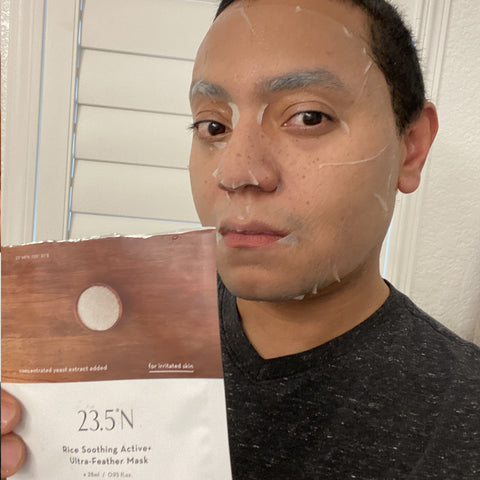 23.5°N Rice Soothing Active + Ultra-Feather Mask