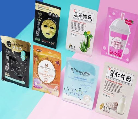 Taiwanese sheet mask starter set available at GlowieCo.com!