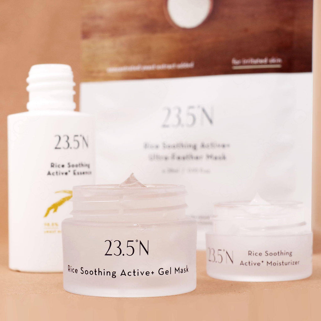 23.5°N Rice Soothing Active+ Travel Set (Essence, Moisturizer, Gel Mask, Sheet Mask)