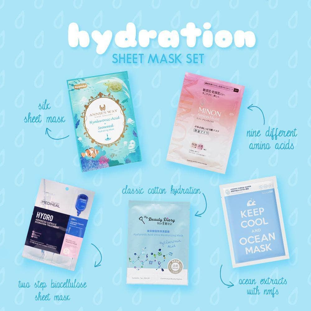 🌊 Glowie Co Hydrating Sheet Mask Set 🌊 ($19 value)