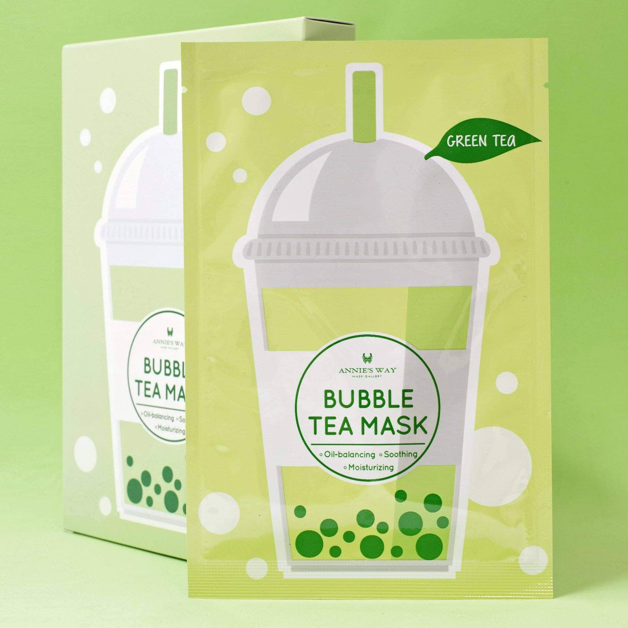 Annie's Way Green Tea Bubble Tea Mask