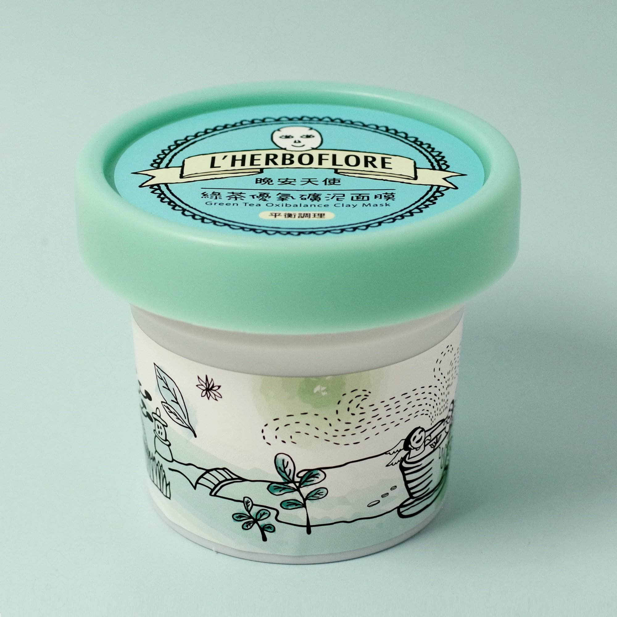 L'Herboflore Green Tea Oxibalance Clay Mask
