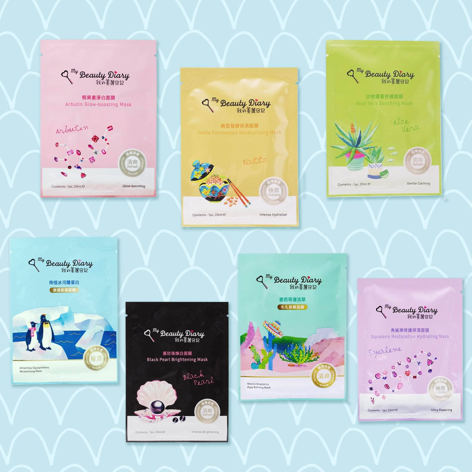 My Beauty Diary Sheet Mask Sampler Set