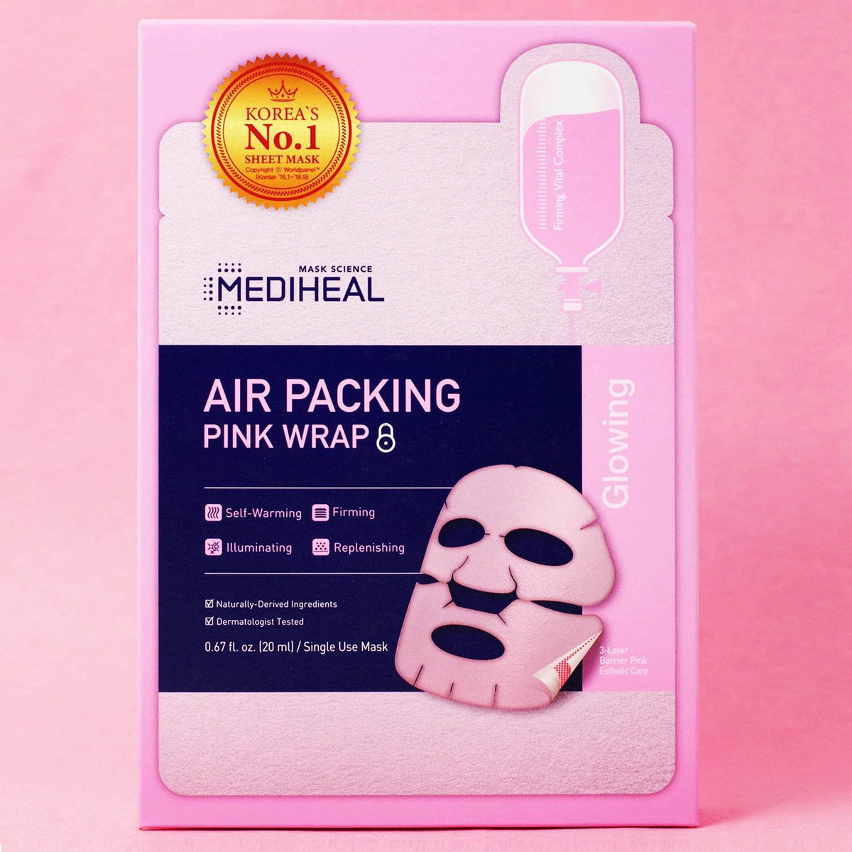 MEDIHEAL Air Packing Pink Wrap Mask - 5 pack
