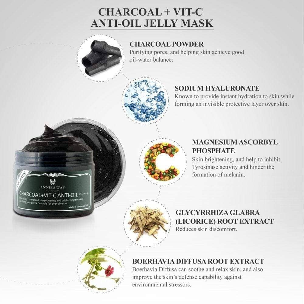 Annie's Way Charcoal Black Jelly Mask Jar