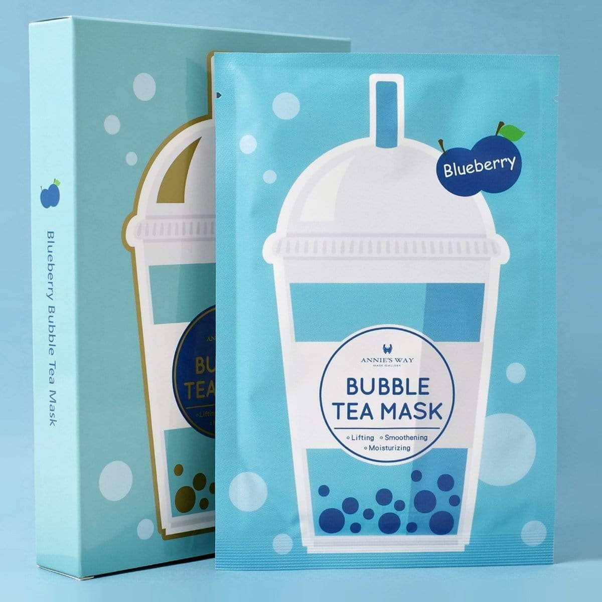 Annie's Way Blueberry Lifting Bubble Tea Sheet Mask