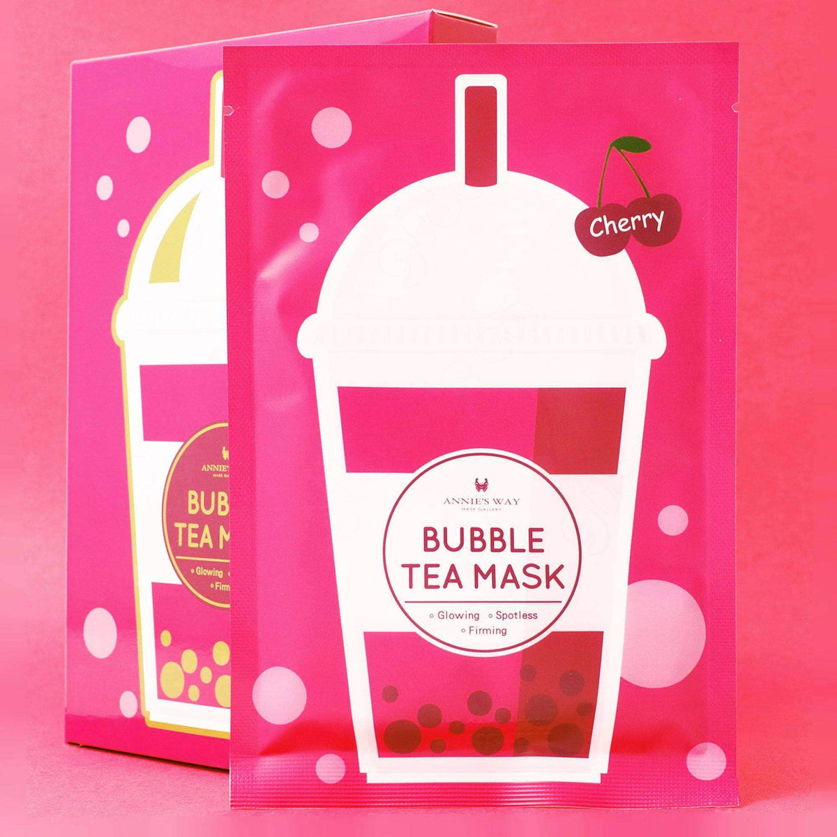 Annie's Way Cherry Glowing Bubble Tea Mask