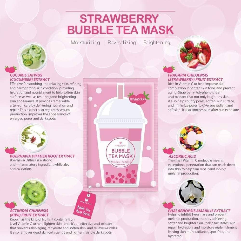 Annie's Way Strawberry Bubble Tea Mask