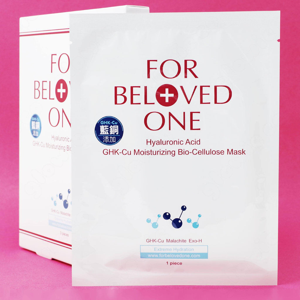 For Beloved One Hyaluronic GHK Cu Moisturizing Bio Cellulose Mask