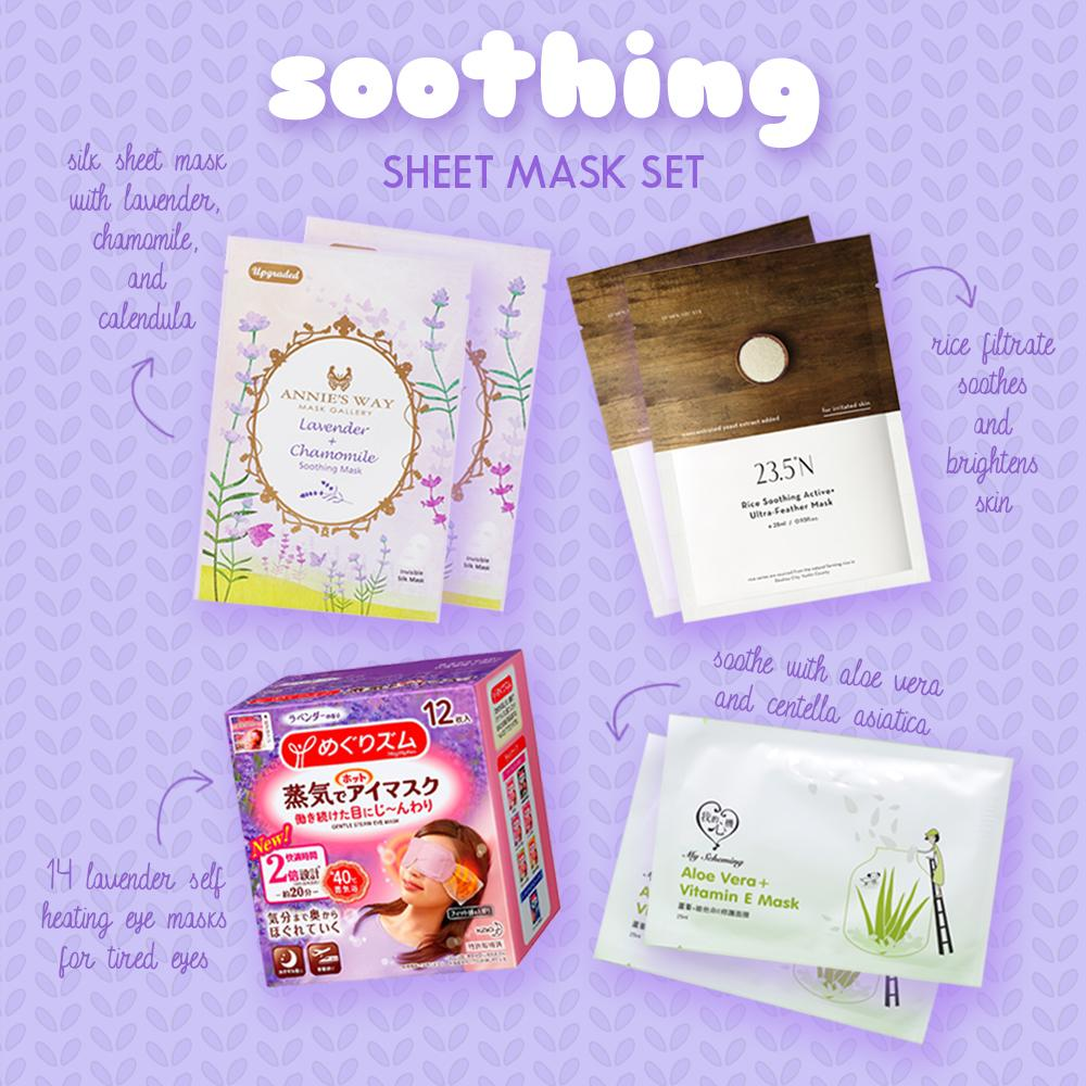 ♨️ Glowie Co Soothing Sheet Mask and Eye Mask Set ♨️ ($40 value)