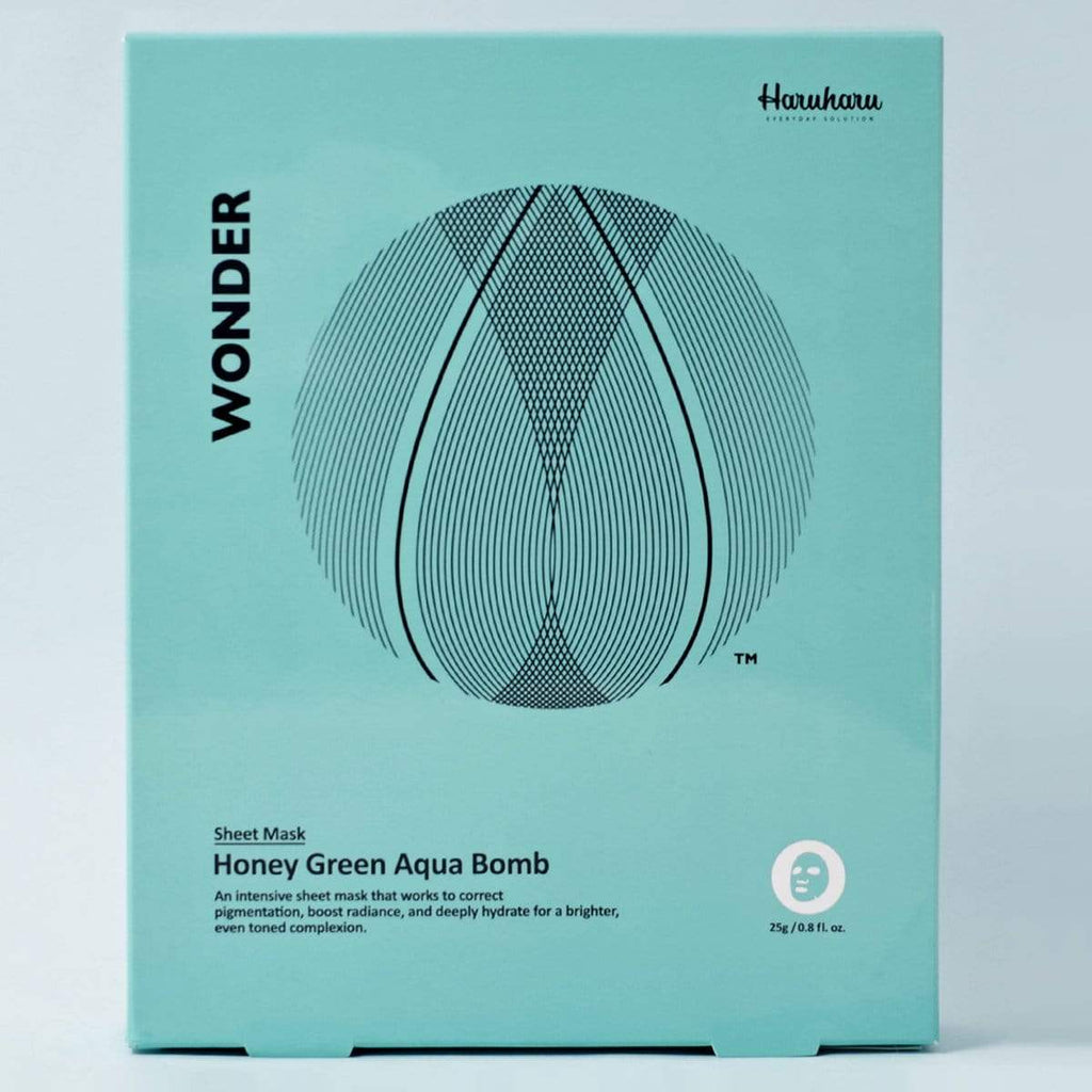 Haruharu WONDER Honey Green Aqua Bomb Sheet Mask