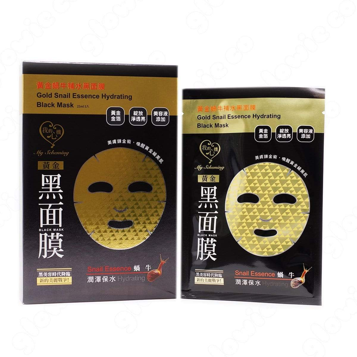 My Scheming Gold Snail Essence Hydrating Black Sheet Mask