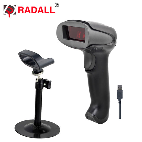 Handheld Low Price Laser Barcode Scanner Wired 1D USB Cable Bar Code Reader