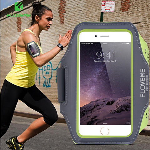 "FLOVEME 4.7""/5.5"" Waterproof Sports Arm Band Case For iPhone 6 6s Plus 7 8 X 10 Universal Pouch Outdoor Running Phone Bag Cover"