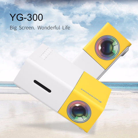 Excelvan YG300 Mini Portable LCD Projector 320 x 240 Pixels Support 1080P
