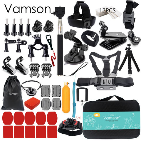 Vamson for Gopro Accessories set for go pro hero 6 5 4 3