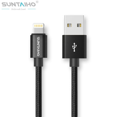 Suntaiho For iPhone X 7 8 6 Plus 6S 5 USB Charger Nylon Braided Cable For Lighting Fast Charging Data Sync Mobile Phone Cable