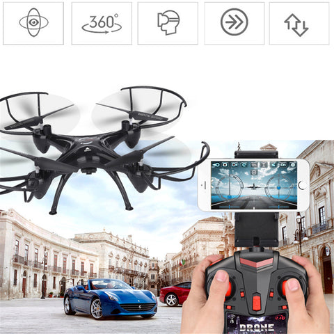 lensoul FPV Drone 3.0mp WiFi HD Camera Real Time Video RC Quadcopter 2.4GHZ 6-Axis Quadcopter
