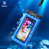 Baseus Universal Waterproof Case For iPhone X 8 7 6 6S Samsung S9 S8 Note8 Xiaomi Waterproof Bag Case For Phone Underwater Pouch