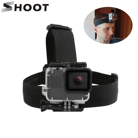 SHOOT Elastic Harness Head Strap For GoPro Hero 5 6 3 4 Session SJCAM