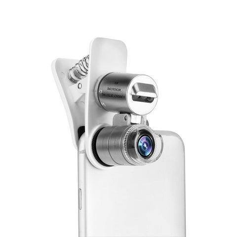 Universal Mobile Phone Microscope Macro Lens 60X Optical Zoom Magnifier Micro Camera Clip LED Lenses For iPhone SE 5S 6S Plus