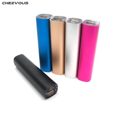 CHEZVOUS Aluminum Alloy Power Bank DIY Box 18650 USB Power Bank Battery Charger Case for iPhone Sumsang SmartPhone Factory Price