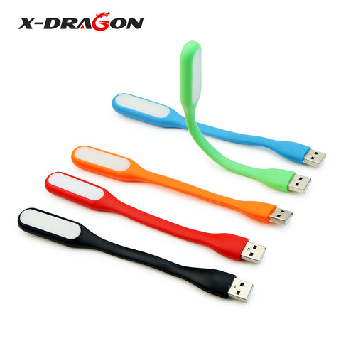 X-DRAGON Mini USB Light Power Bank USB Lamp USB Battery Charger Computer Reading Light 5 Pieces