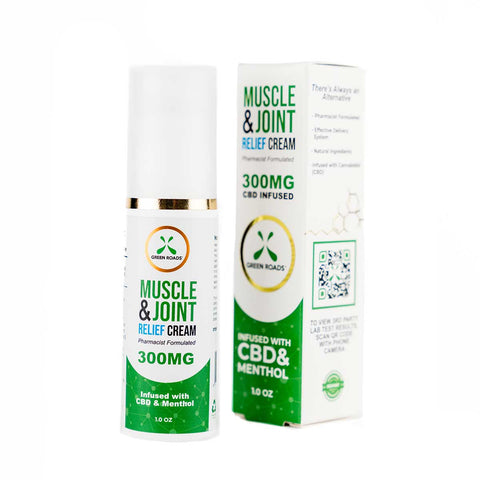 Muscle & Joint Relief CBD Pain Cream  - 300mg - 1 fl oz