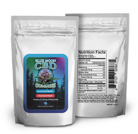 CBD Gummies - 100mg (25mg x 4 pcs)