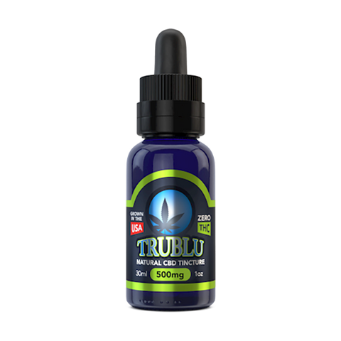 Tru Blu Natural CBD Tincture 100mg - 3000mg - 30ml