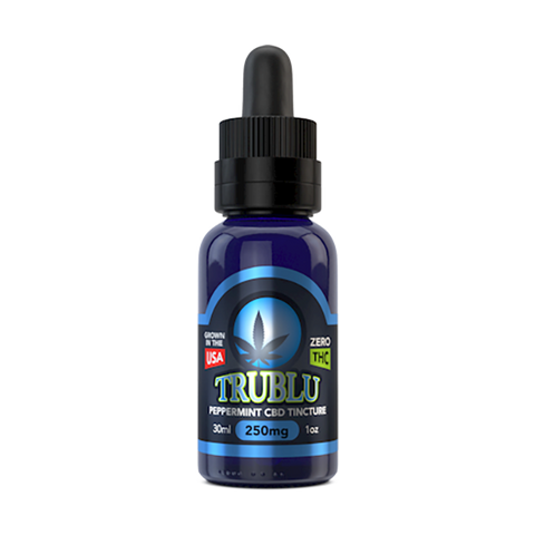 Tru Blu Peppermint CBD Tincture 100mg - 3000mg - 30ml