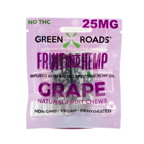 Grape - Fruit and Hemp Chews - 25mg - 1pc