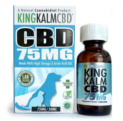 King Kalm CBD For Pets Tincture - 75mg - 30ml