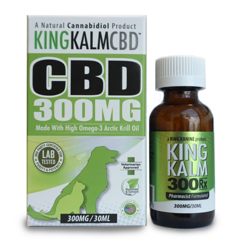 King Kalm CBD For Pets Tincture - 300mg - 30ml