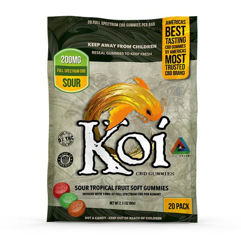 Koi SOUR Tropical Fruit CBD Gummies - 200mg (20 pcs)